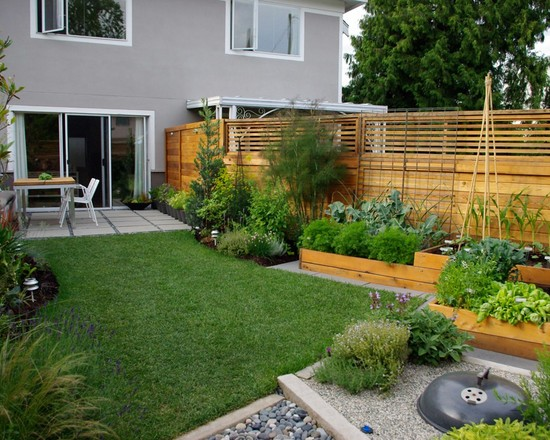 modern-home-garden-ideas-with-wooden-fence